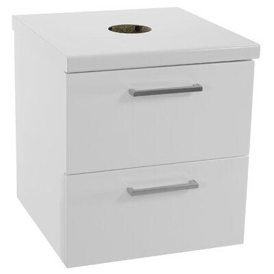 Aurora 19 Bathroom Vanity Base Base Finish: Glossy White