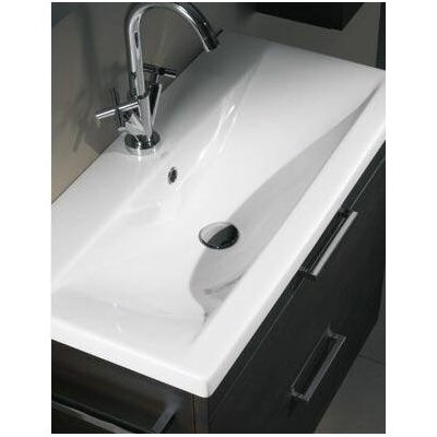 Luna Fitted Ceramic 32 Single Bathroom Vanity Top