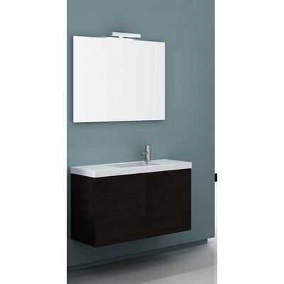 Happy Day 39 Single Wall Mount Bathroom Vanity Set with Mirror Base Finish: Gray Oak