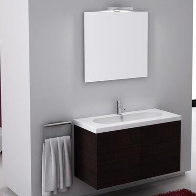 Trendy 39 Single Wall Mount Bathroom Vanity Set with Mirror Base Finish: Gray Oak