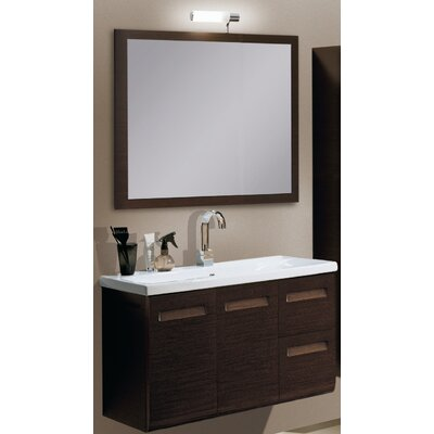 Integral 39 Single Wall Mounted Bathroom Vanity Set with Mirror Base Finish: Glossy White