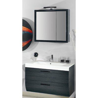New Day 38 Single Wall Mounted Bathroom Vanity Set with Mirror Base Finish: Gray Oak