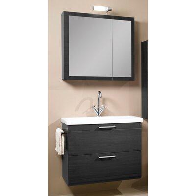 Luna 30 Single Bathroom Vanity Set with Mirror Base Finish: Gray Oak