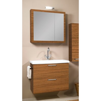 Luna 30 Single Bathroom Vanity Set with Mirror Base Finish: Teak