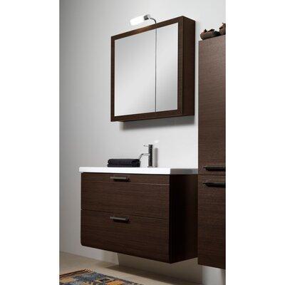 Luna 39 Single Bathroom Vanity Set with Mirror Base Finish: Wenge