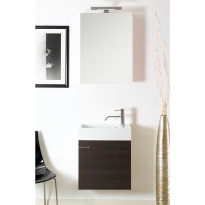 Lola 21 Single Wall Mounted Bathroom Vanity Set with Mirror Base Finish: Wenge