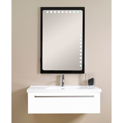 Fly 40 Single Bathroom Vanity Set with Mirror Base Finish: Glossy White