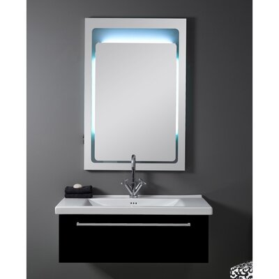 Fly 36 Single Bathroom Vanity Set with Mirror Base Finish: Glossy Black