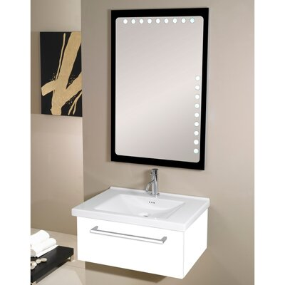 Fly 29 Single Bathroom Vanity Set with Mirror Base Finish: Glossy White