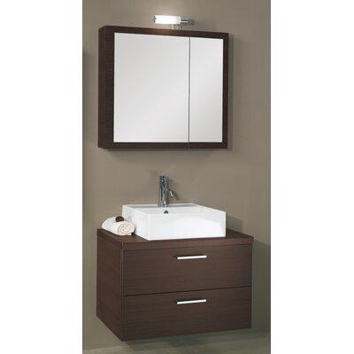 Aurora 30 Single Bathroom Vanity Set with Mirror Base Finish: Wenge