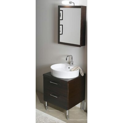 Aurora 23 Single Bathroom Vanity Set with Mirror Base Finish: Wenge
