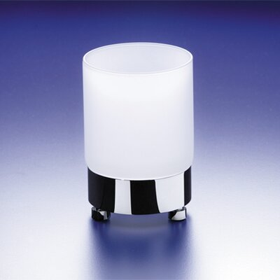 Round Frosted Crystal Glass Tumbler Finish: Chrome w/ Frosted Glass 94118MCR