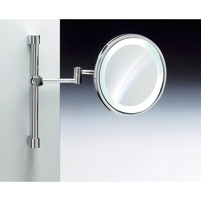Wall Mounted Magnifying Mirror Finish: Chrome and Gold Windisch 99259CRO-5x