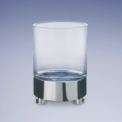 Round Frosted Crystal Glass Tumbler Finish: Satin Nickel w/ Frosted Glass 94118MSNI