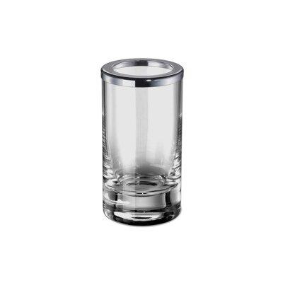Addition Plain Crystal Glass Toothbrush Holder Finish: Chrome Windisch 91062-CR