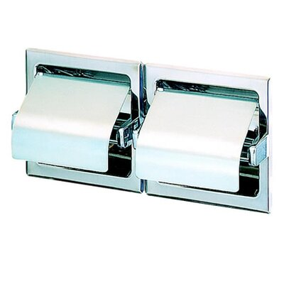 Standard Hotel Double Recessed Toilet Paper Holder with Cover