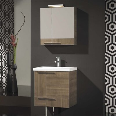 Where Can I Buy Spazio Complete 24 Bathroom Vanity Set Base Finish Walnut Low Price Check It