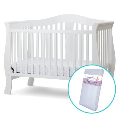 Avalon 4 in 1 Convertible Crib with Innerspring Mattress Finish: White FMC-704-ISW