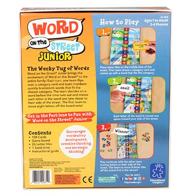 Word on the Street Jr. Educational Game 2831