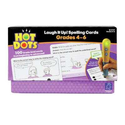 Educational Insights Hot Dots® Laugh It Up! Spelling, Grades 4-6