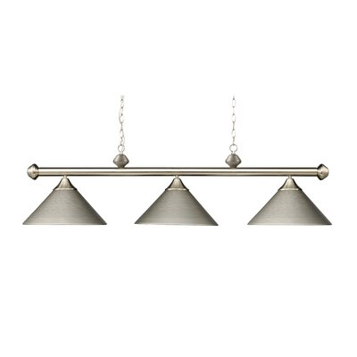 Casual Traditions 3-Light Billiard Light Finish: Satin Nickel