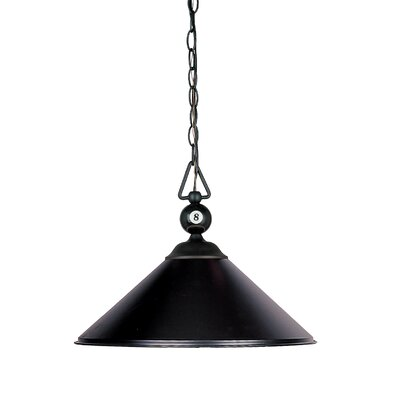 Huguenot 3-Light Billiard Light Finish: Matte Black with White Faux Alabaster Glass Shade