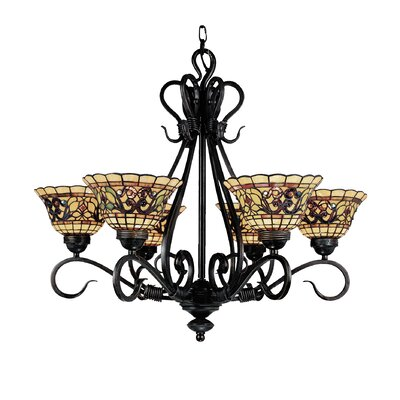 Barksdale 6-Light Shaded Chandelier
