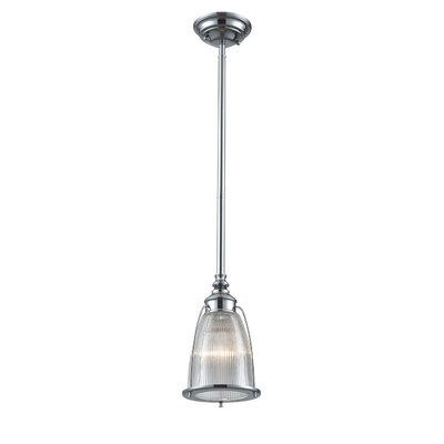 Streff 1-Light Mini Pendant Finish: Polished Chrome with Ribbed Glass