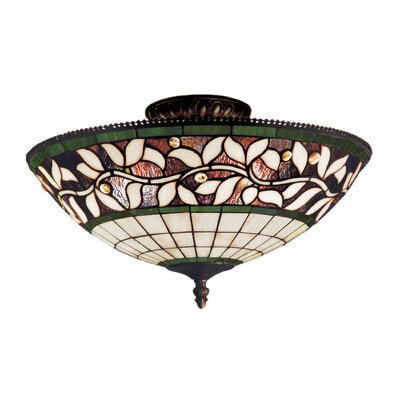 English Ivy 3-Light Semi-Flush Mount