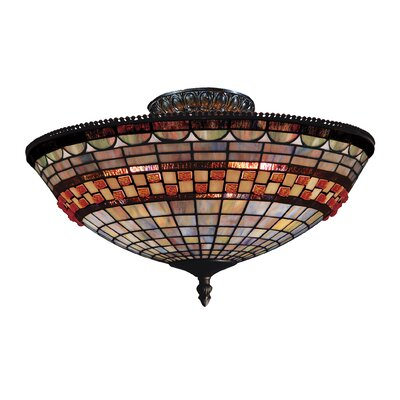 Baron 3-Light Semi-Flush Mount
