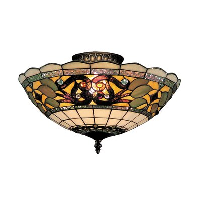 Barksdale 3-Light Semi-Flush Mount