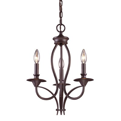 Tarres 3-Light Candle-Style Chandelier