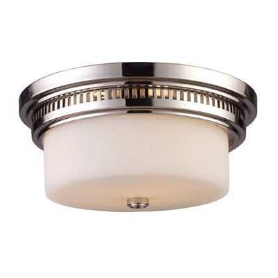 Haffey 2-Light Flush Mount Finish: Polished Nickel