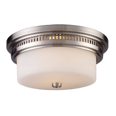 Haffey 2-Light Flush Mount Finish: Satin Nickel