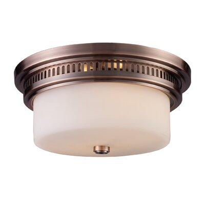 Haffey 2-Light Flush Mount Finish: Antique Copper