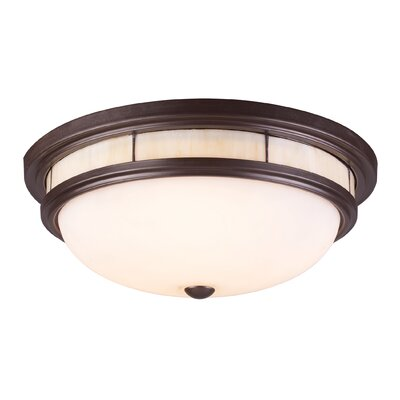 Heim 3-Light Flush Mount Shade Color: Regular