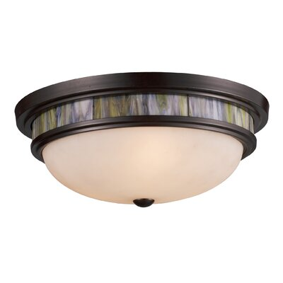 Heim 3-Light Flush Mount Shade Color: Tea Stained
