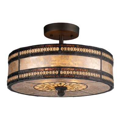 Bearer 2-Light Semi-Flush Mount