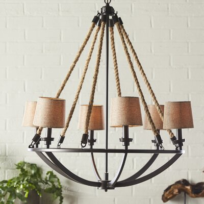 Burling 6-Light Shaded Chandelier