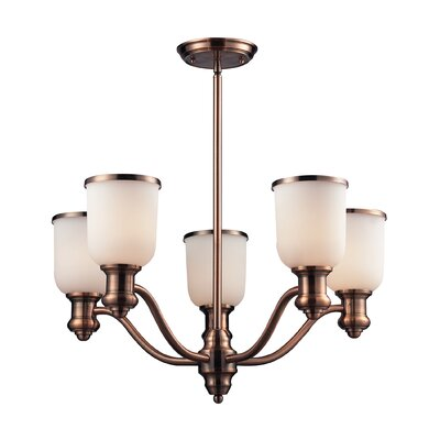 Boornazian 5-Light Shaded Chandelier