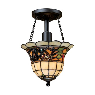 Barksdale 1-Light Semi-Flush Mount