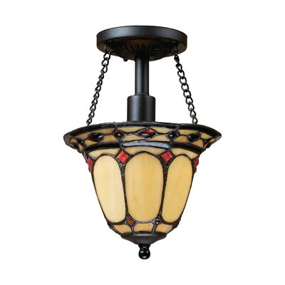 Diamond Ring 1-Light Semi-Flush Mount