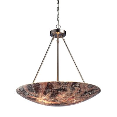 Avalon 5-Light Inverted Pendant Shade Color: Hand Painted Crackled Glass - 3