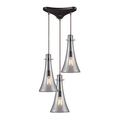 Pettey 75W 3-Light Pendant