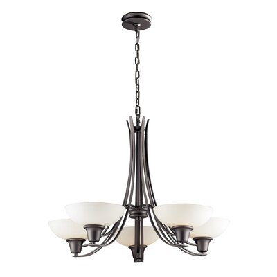 Wherry 5-Light Shaded Chandelier