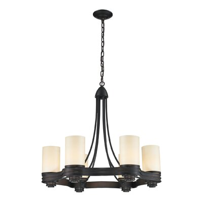Dietrick 6-Light Shaded Chandelier