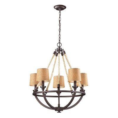 Burling 5-Light Shaded Chandelier