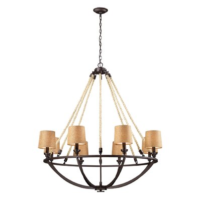 Burling 8-Light Shaded Chandelier