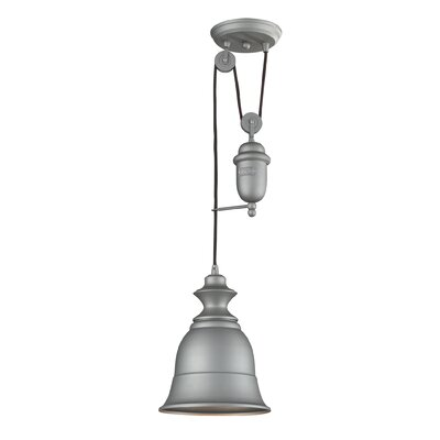 Elsenborn 1-Light Mini Pendant Type: Incandescent, Color: Aged Pewter