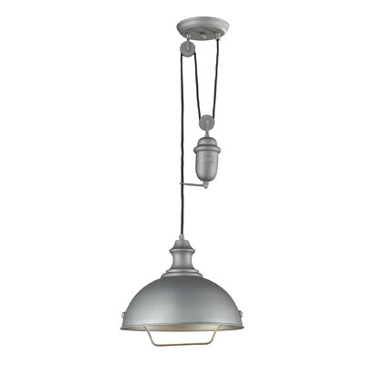 Farmhouse 1 Light Inverted pendant Finish: Aged Pewter
